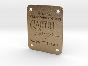 Cactus Canyon Serial Plate in Polished Gold Steel