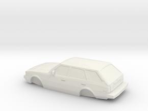 ho scale 1980-1983 toyota corolla wagon in White Natural Versatile Plastic