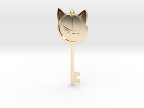 Cat Key Pendent in 14k Gold Plated Brass