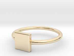 Square Ring Size 6 in 14K Yellow Gold