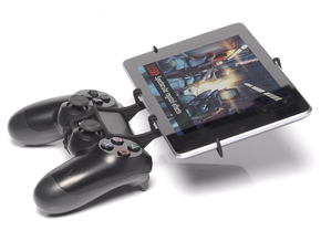 PS4 controller & Samsung Galaxy Tab E 8.0 - Front  in Black Natural Versatile Plastic