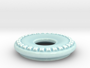 DRAW lamp - decorative ring thick in Gloss Celadon Green Porcelain: Small