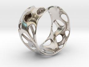 Bracelet 24-4-2016-1 in Rhodium Plated Brass