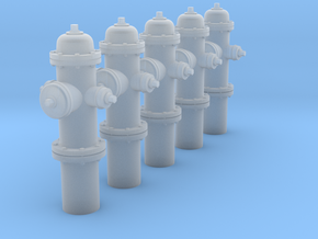 1:35 Model 1962 Hydrant - 5ea in Frosted Ultra Detail