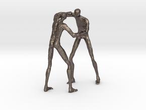 Judoka  100mm in Polished Bronzed Silver Steel