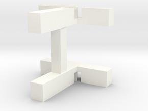 Cufflink in White Processed Versatile Plastic