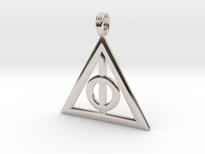 Harry Potter Deathly Hallows Pendant in Rhodium Plated Brass