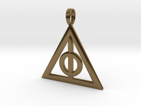 Harry Potter Deathly Hallows Pendant in Polished Bronze