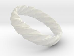 Twistium - Bracelet P=160mm h15 Alpha in White Natural Versatile Plastic