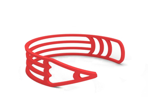 "Bracelet ""Pencil"" in Red Processed Versatile Plastic"