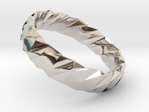 Twistium - Bracelet P=160mm h15 Alpha in Platinum