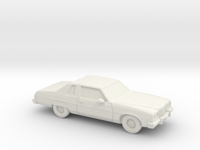 1/87 1977 Pontiac Bonneville Landau Coupe in White Natural Versatile Plastic