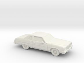 1/87 1977 Pontiac Bonneville Landau Coupe in White Natural Versatile Plastic