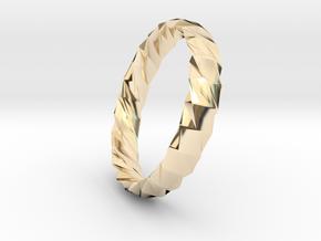 Twistium - Bracelet P=200mm h15 Alpha in 14K Yellow Gold