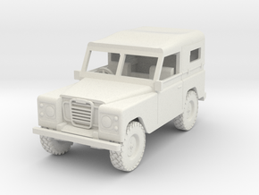 1/72 1:72 Scale Land Rover Soft Top Down Back in White Natural Versatile Plastic