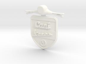 Emblem 3D Canivespa 5,5 cm in White Processed Versatile Plastic