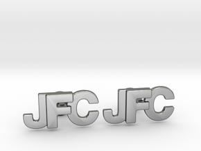 Monogram Cufflinks JFC in Polished Silver