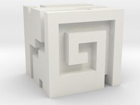 Nuva Cube in White Natural Versatile Plastic