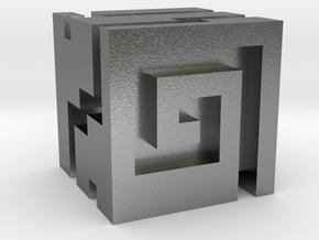 Nuva Cube in Natural Silver