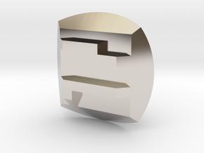 Pohatu Nuva Symbol in Rhodium Plated Brass