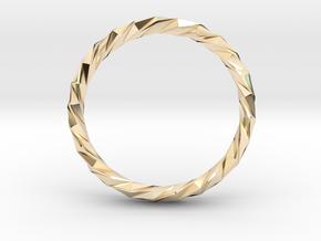 Twistium - Bracelet P=230mm h15 Alpha in 14K Yellow Gold