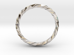 Twistium - Bracelet P=230mm h15 Alpha in Rhodium Plated Brass