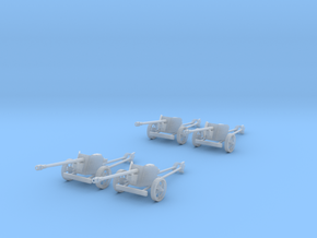 1/100 15mm scale Pak40 german anti tank gun set 4 in Frosted Ultra Detail