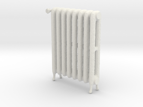 1:12 Decorative Radiator in White Natural Versatile Plastic