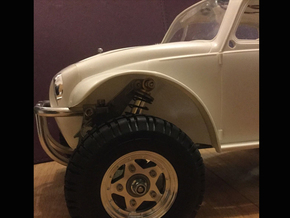 Scorcher Wheel Arch / Inner Fenders, Full Set in White Strong & Flexible Polished