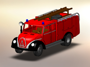 Magirus Mercur Feuerwehr TLF 1:160 in Smooth Fine Detail Plastic