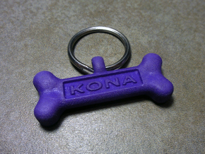 Personalized Dog Tag in Purple Strong & Flexible Polished