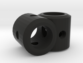 CLUNK Right Angle Dowel Joint in Black Strong & Flexible