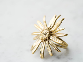 Daisy Ring in Polished Brass: 6 / 51.5