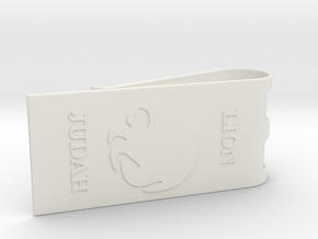 Lion of Judah Money Clip in White Natural Versatile Plastic