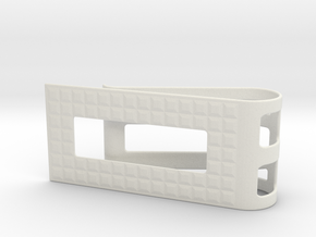 Square Pattern Money Clip 1 in White Natural Versatile Plastic