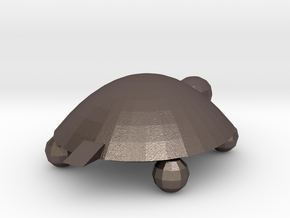 Miniture Turtle in Polished Bronzed Silver Steel
