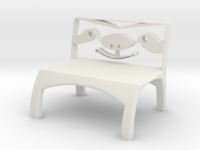 Sloth Chair in White Natural Versatile Plastic