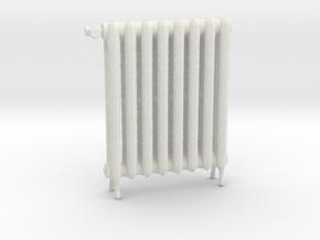 1:24 Decorative Radiator in White Natural Versatile Plastic