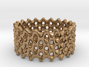 Lattice Ring No.2 in Polished Brass