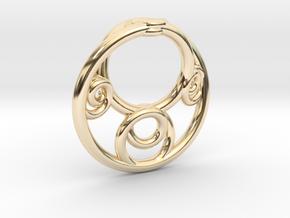 Möbius Fractal Pendant in 14K Yellow Gold