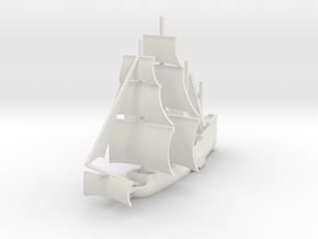 1/1000 Side-wheel Galleon in White Natural Versatile Plastic