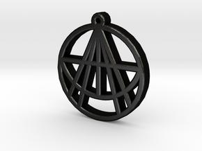 Astralizey Logo Pendant/Keychain in Matte Black Steel