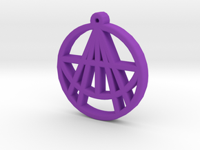 Astralizey Logo Pendant/Keychain in Purple Processed Versatile Plastic