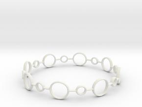 Circle Bracelet in White Natural Versatile Plastic