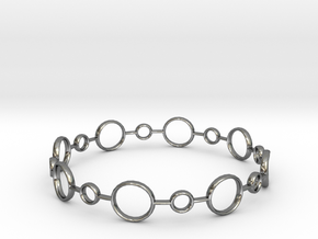 Circle Bracelet in Fine Detail Polished Silver