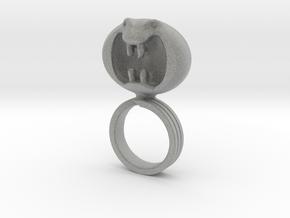 Dark Helmet's ring from Spaceballs Schwartz in Metallic Plastic