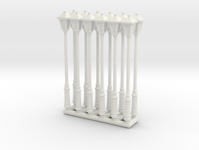 Street lamp 01. 1:64 Scale in White Natural Versatile Plastic