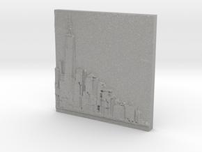 Manhattan Skyline in Aluminum