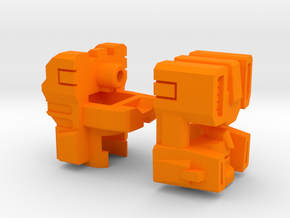 Drill Tank Head G1/IDW in Orange Strong & Flexible Polished