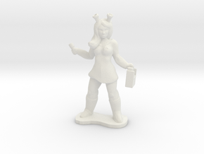 Andorian Science  Officer in White Natural Versatile Plastic